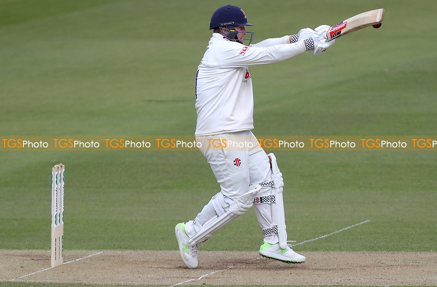 Simon Harmer of Essex hooks a short pitched delivery during Surrey CCC vs Essex CCC, Specsavers County Championship Division 1 Cricket at the Kia Oval on 13th April 2019