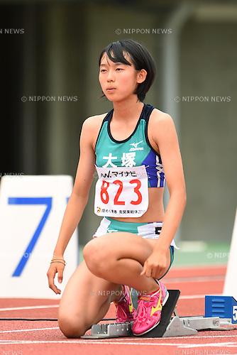 Natsuki Nakatsuka (Otsuka), <br /> AUGUST 3, 2014 - Athletics : <br /> 2014 All-Japan Inter High School Championships, <br /> Women's 100mH Semi-final <br /> in Kofu, Yamanashi, Japan. <br /> (Photo by YUTAKA/AFLO SPORT) [1040]