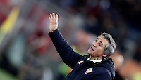 Calcio, Serie A: Roma, Stadio Olimpico, 7 febbraio 2017.<br /> Fiorentina's coach Paulo Sousa gestures to his players during the Italian Serie A football match between AS Roma and Fiorentina at Roma's Olympic Stadium, on February 7, 2017.<br /> UPDATE IMAGES PRESS/Isabella Bonotto