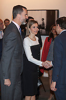 Spanish Royals King Felipe VI of Spain and Queen Letizia of Spain visit ARCO Contemporary Art Fair inauguration in Madrid, Spain. February 26, 2015. (ALTERPHOTOS/Victor Blanco) /NORTEphoto.com