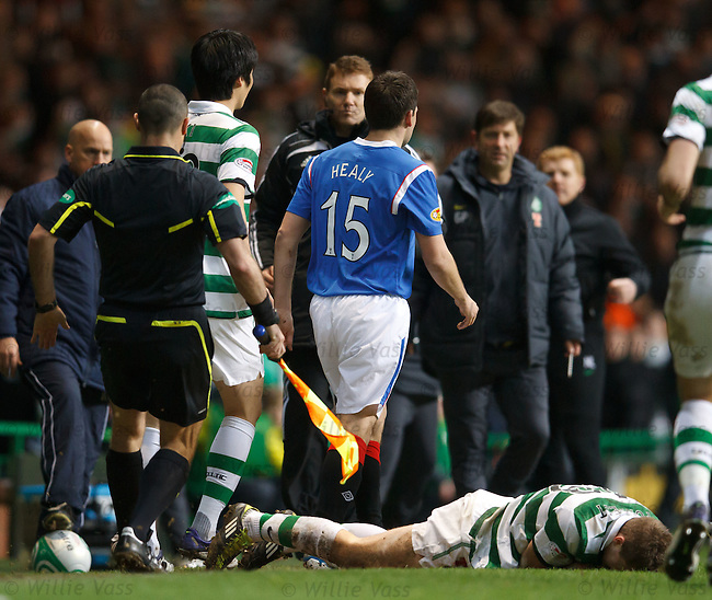 David Healy leaves James Forrest crumpled on the touchline