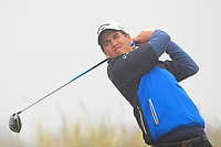 Jacob Oakley (Styal) on the 1st tee during Round 1 - Matchplay of the North of Ireland Championship at Royal Portrush Golf Club, Portrush, Co. Antrim on Wednesday 11th July 2018.<br /> Picture:  Thos Caffrey / Golffile