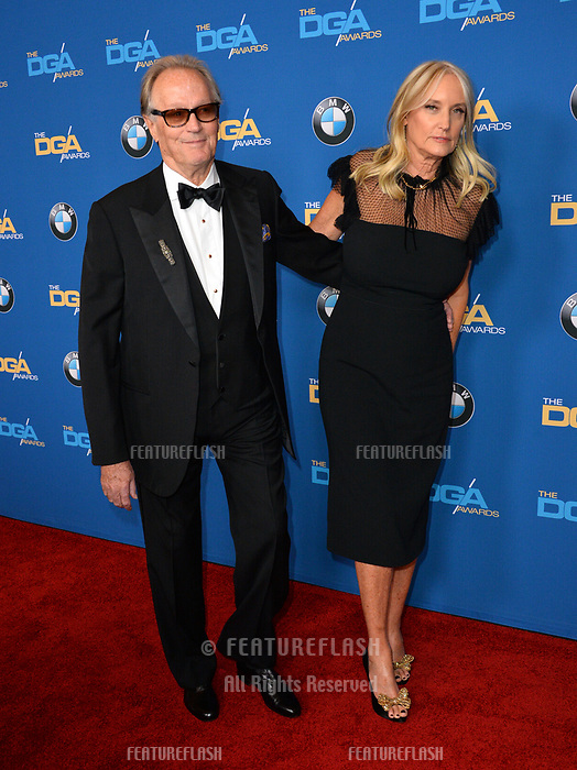 Peter Fonda &amp; Margaret (Parky) DeVogelaere at the 70th Annual Directors Guild Awards at the Beverly Hilton Hotel, Beverly Hills, USA 03 Feb. 2018<br /> Picture: Paul Smith/Featureflash/SilverHub 0208 004 5359 sales@silverhubmedia.com