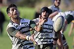 M. Niha passes to the backline. Counties Manukau Premier Club Rugby, Patumahoe vs Manurewa played at Patumahoe on Saturday 6th May 2006. Patumahoe won 20 - 5.