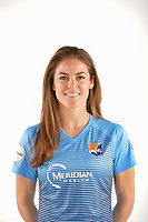 Belmar, NJ - Wednesday March 29, 2017: Kelley O'Hara poses for photos at the Sky Blue FC team photo day.