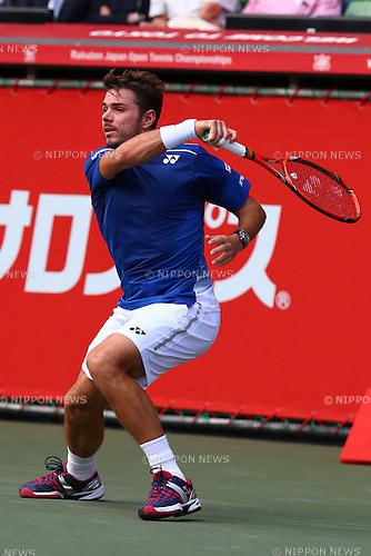 Stan Wawrinka (SUI), October 6, 2015 - Tennis : Rakuten Japan Open Tennis Championships 2015, the First match between Stan Wawrinka (SUI) - Radek Stepanek (CZE) at Ariake Coliseum, Tokyo, Japan. (Photo by Shingo Ito/AFLO SPORT)