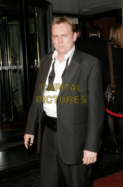 PHILIP GLENISTER.The British Academy Television Awards 2008 after party held at the Grosvenor House Hotel, London, England. .April 20th 2008.BAFTA BAFTA's half length phillip black tuxedo jacket bow tie undone white shirt cumberbund .CAP/AH.©Adam Houghton/Capital Pictures.