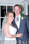 Lisa Hickey, Currow daughter of Tom hickey and Martina Flynn, and Paul Bradley, Dooneen Castleisland son of Tony and Liz, who were married in the church of the Immaculate Conception, Currow Fr Nicolas Flynn officiated at the ceremony, best man was Johnny Curtin groomsman was Mark hallissey, bridesmaids were Jennifer and Meaghan Hickey, flowergirls were Molly O'Connor and Emma Hallissey, page boys were Jack Hallissey and Ryan Hickey, the reception was held in the Killarney Heights and the couple will reside in Castleisland