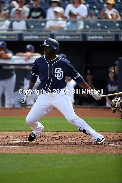 Jose Pirela - San Diego Padres 2016 spring training (Bill Mitchell)