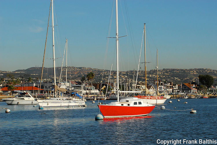 yachts at Balboa Island