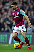 4th November 2017, Villa Park, Birmingham, England; EFL Championship football, Aston Villa versus Sheffield Wednesday; Scott Hogan of Aston Villa holds the ball up on the wing