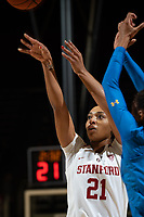 Stanford, CA - January 6, 2019: The Stanford Cardinal defeats the visiting UCLA Bruins 86-80 at Maples Pavilion on Sunday, January 6, 2018.