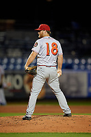 Florida Fire Frogs relief pitcher Cutter Dyals (18) during a Florida State League game against the St. Lucie Mets on April 12, 2019 at First Data Field in St. Lucie, Florida.  Florida defeated St. Lucie 10-7.  (Mike Janes/Four Seam Images)