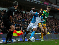 Blackburn Rovers' Ryan Nyambe gets past Preston North End's Paul Gallagher<br /> <br /> Photographer Alex Dodd/CameraSport<br /> <br /> The EFL Sky Bet Championship - Blackburn Rovers v Preston North End - Saturday 11th January 2020 - Ewood Park - Blackburn<br /> <br /> World Copyright © 2020 CameraSport. All rights reserved. 43 Linden Ave. Countesthorpe. Leicester. England. LE8 5PG - Tel: +44 (0) 116 277 4147 - admin@camerasport.com - www.camerasport.com