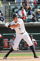 Charleston RiverDogs outfielder Aaron Judge #35 at bat during a game against the Greenville Drive at Joseph P. Riley Jr. Ballpark  on April 9, 2014 in Charleston, South Carolina. Greenville defeated Charleston 6-3. (Robert Gurganus/Four Seam Images)