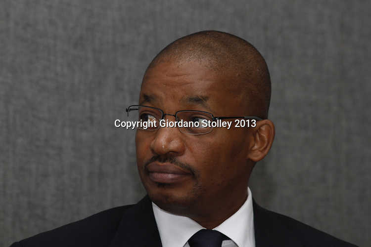 DURBAN - 30 July 2013 - The chairman of the National House of Traditional Leaders Phopolo Pontsho Maubane attends a meeting of the house in Durban, where issues such as land restitution were to be discussed. Picture: Giordano Stolley