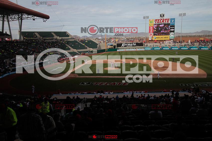 estadio de beisbol durante  la Serie del Caribe 2013  de Beisbol,  Puerto Rico  vs Republica Dominicana ,  en el estadio Sonora el 2 de febrero de 2013...© (foto:BaldemarDeLosLlanos/NortePhoto)........during the 2013 Caribbean Series Baseball, Puerto Rico vs Dominican Republic in Sonora Stadium on February 2, 2013 ...© (photo: Baldemar of Llanos / NortePhoto)...http://mlb.mlb.com/mlb/events/winterleagues/league.jsp?league=cse