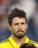 Columbus Crew defender Danny O'Rourke (5). In a Major League Soccer (MLS) match, the New England Revolution defeated Columbus Crew, 2-0, at Gillette Stadium on September 5, 2012.