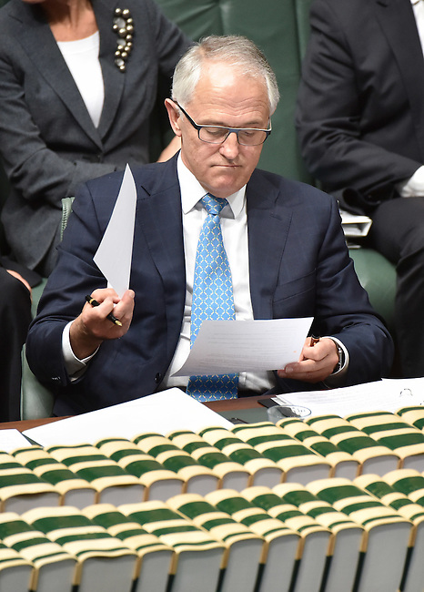 Malcolm Turnbull, the new Australian Prime Minister in the House of Representatives Chamber, Parliament House, Canberra, September 16th, 2015. Photographer: Mark Graham