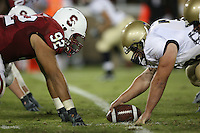 16 September 2006: Sione Fua during Stanford's 37-9 loss to Navy during the grand opening of the new Stanford Stadium in Stanford, CA.
