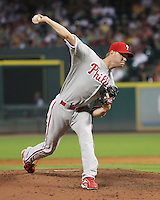 Phillies pitcher Ryan Madson on Friday May 23rd at Minute Maid Park in Houston, Texas. Photo by Andrew Woolley / Four Seam Images.
