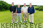 At John Slattery's President Prize at Ballyheigue golf course on Sunday. Front l-r  James O'Sullivan, Brendan Harty, Denis O'Regan and Brent Williams