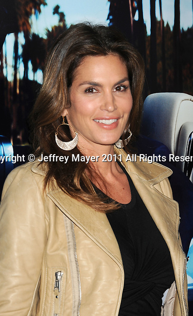 "HOLLYWOOD, CA - MARCH 22: Cindy Crawford  attends HBO's ""His Way"" Los Angeles Premiere at Paramount Theater on the Paramount Studios lot on March 22, 2011 in Hollywood, California."