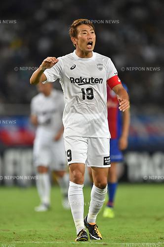 Kazuma Watanabe (Vissel),<br /> AUGUST 13, 2017 - Football / Soccer :<br /> 2017 J1 League match between F.C.Tokyo 1-0 Vissel Kobe at Ajinomoto Stadium in Tokyo, Japan. (Photo by AFLO)