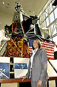 Jeannette Epps, a member of the Astronaut Class of 2009, poses for a photo near the Lunar Module that is like the one that carried 6 crews to the Moon at the National Air and Space Museum in Washington, D.C. on Friday, July 17, 2009.<br /> Credit: Ron Sachs / CNP