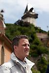 28.05.2011, Innenstadt, Graz, AUT, DTM, Showlauf der DTM in der Grazer Innenstadt anlässlich des DTM Laufs am Red Bull Ring in Spielberg, im Bild Portrait von Ralf Schumacher vor dem Schlossberg, Foto © nph /  Erwin Scheriau *** Local Caption ***