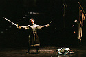 2001 - MACBETH - Macduff (Andrew Richards) celebrates his victory over Macbeth (Richard Paul Fink) in Opera Pacific's production of Macbeth.