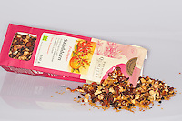 Sanddorn-Produkte, Produkte aus Sanddornfrüchten, Früchtetee, Tee, Sanddorn, Sand-Dorn, Küsten-Sanddorn, Frucht, Früchte, Hippophae rhamnoides rhamnoides, Products from buckthorn fruits, fruit tea, tea, Sea Buckthorn, Argousier, Saule épineux