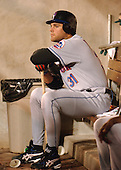 Washington, D.C. - April 29, 2005 -- New York Mets catcher Mike Piazza (31) waits in the dugout for his turn at bat against Washington Nationals at RFK Stadium in Washington, D.C. on April 29, 2005.  The game marks the Mets first-ever regular - season appearance in Washington.  The Nationals won the game 5 -1..Credit: Ron Sachs / CNP.(RESTRICTION: NO New York or New Jersey Newspapers or newspapers within a 75 mile radius of New York City)