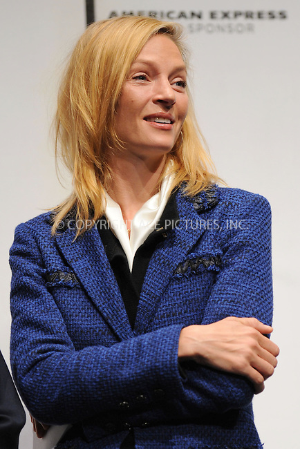 WWW.ACEPIXS.COM . . . . . ....April 21 2009, New York City....Actress Uma Thurman at the 8th annual Tribeca Film Festival opening press conference at the Tribeca Performing Arts Center on April 21, 2009 in New York City.....Please byline: KRISTIN CALLAHAN - ACEPIXS.COM.. . . . . . ..Ace Pictures, Inc:  ..tel: (212) 243 8787 or (646) 769 0430..e-mail: info@acepixs.com..web: http://www.acepixs.com