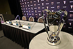04 December 2015: The Philip F. Anschutz Trophy was on display during the press conference. Major League Soccer held a press conference two days before MLS Cup 2015 between the Portland Timbers FC and Columbus Crew SC. The Press Conference was held at the Greater Columbus Convention Center in Columbus, Ohio.