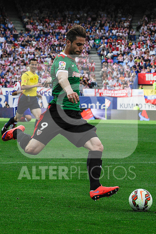 Athletic Club´s Enrique Sola during 2014-15 La Liga match between Atletico de Madrid and Athletic Club at Vicente Calderon stadium in Madrid, Spain. May 02, 2015. (ALTERPHOTOS/Luis Fernandez)