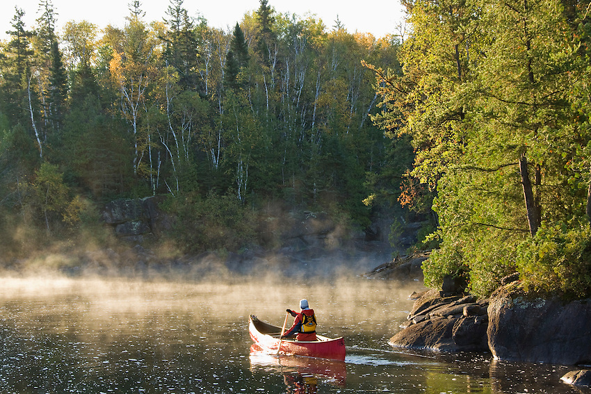 Canoeing at the Boundary Waters Canoe Area Wilderness in Northern Minnesota.