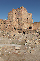 Square tower, Qsar Bshir, Mobene fortress, best preserved Roman fort in the world, Castra Praetoria, built 293 - 305, el-Qatrana, Jordan desert, Jordan. Picture by Manuel Cohen