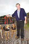 Seamus O'Shea with his Kerry Beagles General & Joker at the first show for hounds in Garrai Glas, Kenneigh, Waterville.