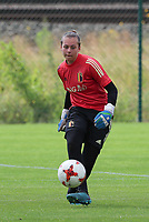 20200627 - TUBIZE , Belgium : Goal keeper Lia Desmara is in action during a training session of the Belgian Red Flames U17, on the 27 th of June 2020 in Tubize.  PHOTO SEVIL OKTEM| SPORTPIX.BE