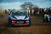 5th October 2017, Costa Daurada, Salou, Spain; FIA World Rally Championship, RallyRACC Catalunya, Spanish Rally; Andreas MIKKELSEN - Anders JAEGER of Hyundai Motorsport sliding in the shakedown