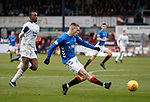 09.12.2018 Dundee v Rangers: Ryan Kent squares to Kyle Lafferty