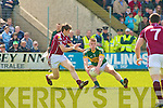 Kerry's Tommy Walsh and Galway's Niall Coyne.