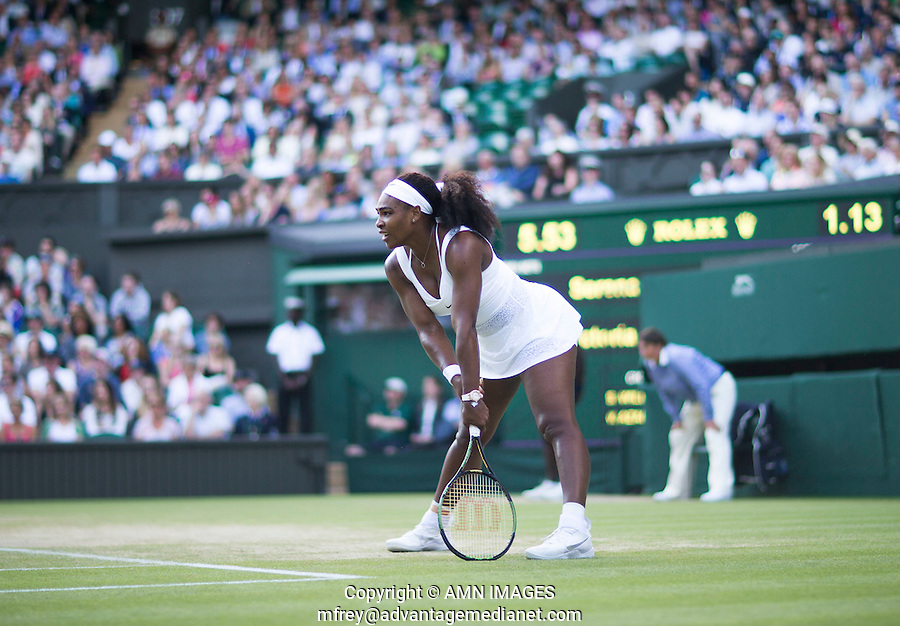 SERENA WILLIAMS (USA)<br /> <br /> TENNIS - THE CHAMPIONSHIPS - WIMBLEDON 2015 -  LONDON - ENGLAND - UNITED KINGDOM - ATP, WTA, ITF <br /> <br /> &copy; AMN IMAGES