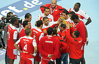 18.01.2013 Barcelona, Spain. IHF men's world championship, prelimanary round. Picture show  tunsia team  in action during game between Arnetina vs Tunisia at Palau St Jordi