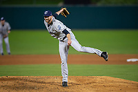 Columbus Clippers relief pitcher Josh D. Smith during an International League game against the Indianapolis Indians on April 29, 2019 at Victory Field in Indianapolis, Indiana. Indianapolis defeated Columbus 5-3. (Zachary Lucy/Four Seam Images)