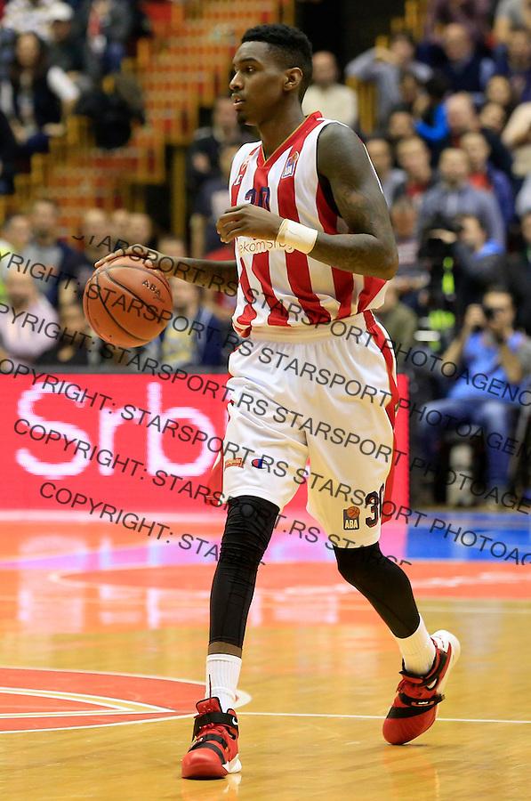 Kosarka ABA League season 2015-2016<br /> Crvena Zvezda v Partizan<br /> Quinci Miller<br /> Beograd, 03.11.2015.<br /> foto: Srdjan Stevanovic/Starsportphoto&copy;