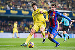 "Alexandre Rodrigues da Silva ""Pato"" (l) of Villarreal CF battles for the ball with Sergi Roberto Carnicer of FC Barcelona during their La Liga match between Villarreal and FC Barcelona at the Estadio de la Cerámica on 08 January 2017 in Villarreal, Spain. Photo by Maria Jose Segovia Carmona / Power Sport Images"