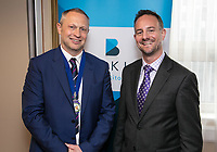 Nottingham City Business Club President Mark Deakin and James Coppinger of sponsors Buckles