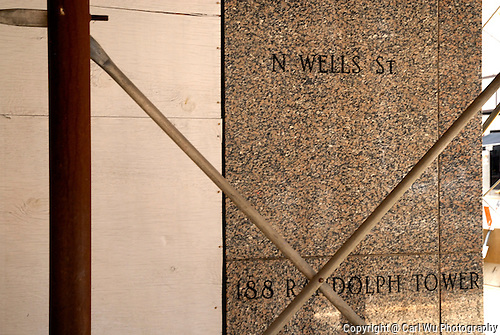 Cornerstone At 188 Randolph Tower & N. Wells St. Chicago